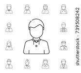 boy scout avatar. set of avatar ... | Shutterstock . vector #739508242