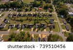 aerial view of a subdivision | Shutterstock . vector #739510456