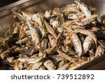 Fried Anchovies At Market