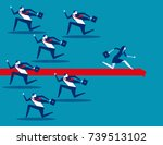business person running in... | Shutterstock .eps vector #739513102