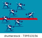 business person running in... | Shutterstock .eps vector #739513156
