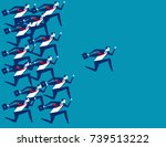 business people and leader... | Shutterstock .eps vector #739513222