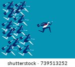 business people and leader... | Shutterstock .eps vector #739513252