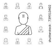 buddhist avatar. set of avatar... | Shutterstock . vector #739513402