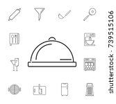 restaurant steel serving tray.... | Shutterstock .eps vector #739515106