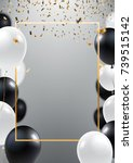 abstract ceremonial silver... | Shutterstock .eps vector #739515142