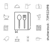 spoon with a fork. set of... | Shutterstock . vector #739522498