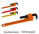 isolated monkey wrench on...   Shutterstock .eps vector #739522645