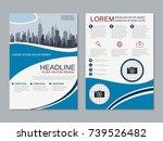 modern business two sided flyer ... | Shutterstock .eps vector #739526482