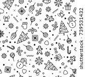 vector seamless pattern with... | Shutterstock .eps vector #739531432