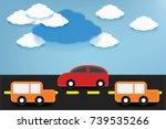 fabric art vector illustration... | Shutterstock .eps vector #739535266
