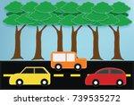 fabric art vector illustration... | Shutterstock .eps vector #739535272