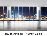 empty office and blur view of... | Shutterstock . vector #739542655