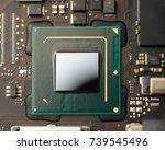 cpu processor of an laptop | Shutterstock . vector #739545496