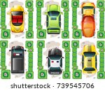 different types of cars from... | Shutterstock .eps vector #739545706