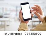 mockup smartphone blank screen...   Shutterstock . vector #739550902