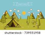 nature landscape. morning... | Shutterstock .eps vector #739551958