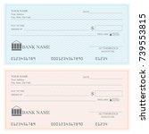 blank bank checks or che que... | Shutterstock .eps vector #739553815