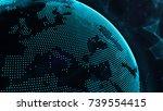 3d illustration of detailed... | Shutterstock . vector #739554415