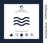 wave icon | Shutterstock .eps vector #739554652