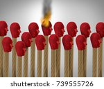 influencer and influence as a... | Shutterstock . vector #739555726