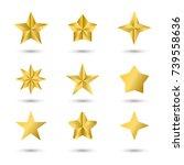 christmas star decorations ... | Shutterstock .eps vector #739558636