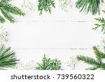 christmas composition.... | Shutterstock . vector #739560322