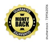money back gold label  vector... | Shutterstock .eps vector #739562056