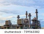 gas turbine electrical power...   Shutterstock . vector #739563382