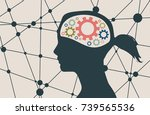 silhouette of a woman's head.... | Shutterstock .eps vector #739565536