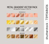 metal gradient vector pack. 28... | Shutterstock .eps vector #739568656
