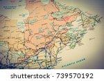 us atlas closeup | Shutterstock . vector #739570192