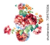 Stock photo enthusiasm is bold and unrestrained of flowers the leaves and flowers art design 739570336