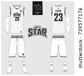 basketball jersey  shorts ... | Shutterstock .eps vector #739577176