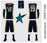 basketball jersey  shorts ... | Shutterstock .eps vector #739577182