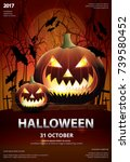 halloween poster template... | Shutterstock .eps vector #739580452