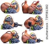 georgian wine | Shutterstock . vector #739581382