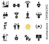 vector set of icons related to... | Shutterstock .eps vector #739581592