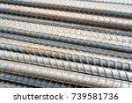 reinforcement steel bars for...   Shutterstock . vector #739581736