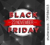 abstract vector black friday... | Shutterstock .eps vector #739586515