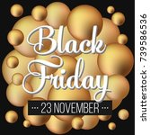 abstract vector black friday... | Shutterstock .eps vector #739586536