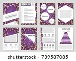 abstract vector layout... | Shutterstock .eps vector #739587085