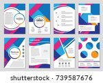 abstract vector layout... | Shutterstock .eps vector #739587676