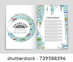 abstract vector layout... | Shutterstock .eps vector #739588396