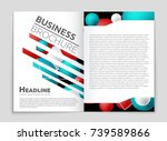 abstract vector layout... | Shutterstock .eps vector #739589866