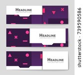 abstract vector layout... | Shutterstock .eps vector #739590586