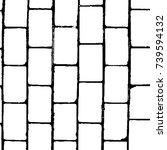 grunge black white. monochrome... | Shutterstock .eps vector #739594132