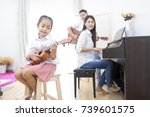 asian family daughter playing... | Shutterstock . vector #739601575