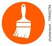 illustration of paintbrush... | Shutterstock .eps vector #739602796