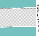ripped paper with gradient mesh ... | Shutterstock .eps vector #739607386